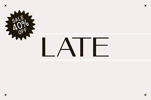 Late - A Sans Serif Font