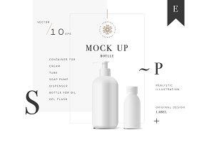 Cosmetic vector mockup bottle