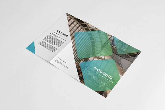 Moderno Trifold Brochure