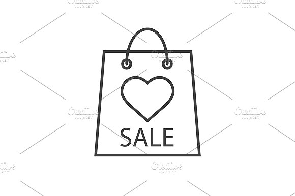 Valentines Day Sale Icon Vector