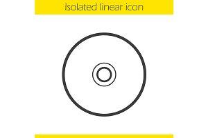 CD icon. Vector