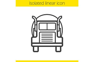 Oil tanker truck icon. Vector