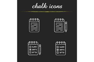 Notepads. 4 icons. Vector
