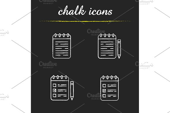 Notepads 4 Icons Vector