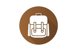 Travel backpack icon. Vector