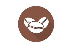 Coffee beans icon. Vector
