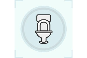 Toilet icon. Vector