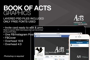 Book of Acts Sermon Series Graphics
