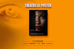 Theatrical Type Face Poster