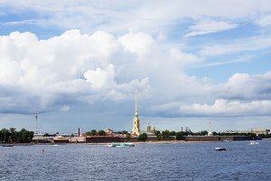 Saint-Petersburg , Peter and Paul fortress . Russia .