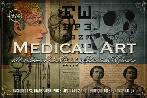 Medical Art | 110 EPS, PNG and JPG's