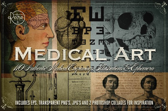 Medical Art 110 EPS PNG And JPG's