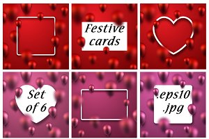 Festive cards & frames with balloons