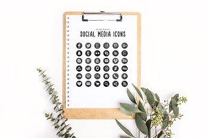36 Chalkboard Social Media Icons