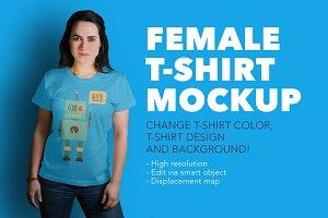 Denisa – female t-shirt mockup