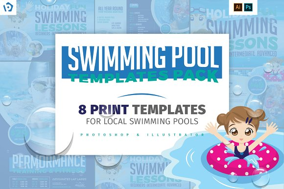 Swimming Pool Templates Pac-Graphicriver中文最全的素材分享平台