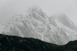 Monochrome Mountains in Winter
