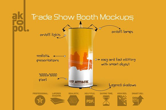 Free 4 Trade Show Mockups