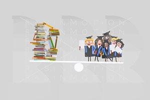 Graduate students balance