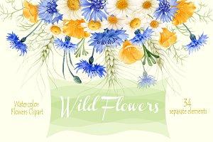 Wild Flowers elements