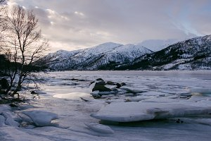Snowy Mountains and Water #03