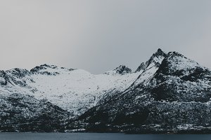 Snowy Mountains and Water #06