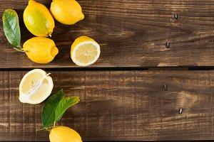 Juicy yellow lemons