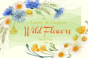 Wild Flowers Wreaths and Bouquets