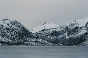 Snowy Mountains and Water #07