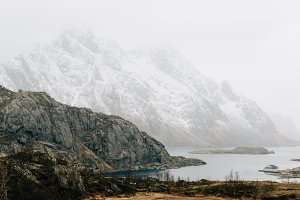 Snowy Mountains and Water #08