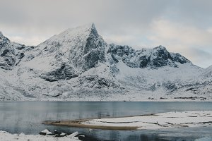 Snowy Mountains and Water #17