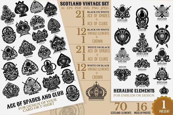 Scotland Set Of Spades Elements