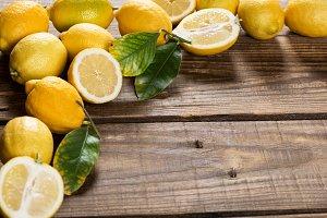 Yellow lemons.