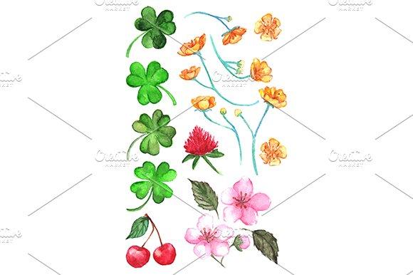 Watercolor Flower Clip Art Vector
