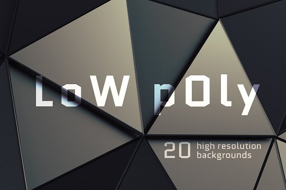 3D Renders Of Low Poly Backgrounds