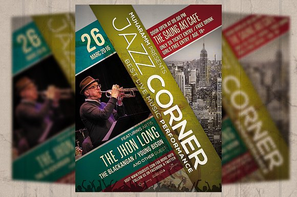 Jazz Event Flyer Poster