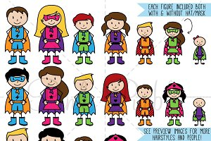 Superhero Stick Figure Clipart