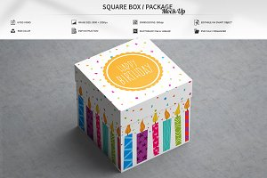 Square Box / Package Mock-Up