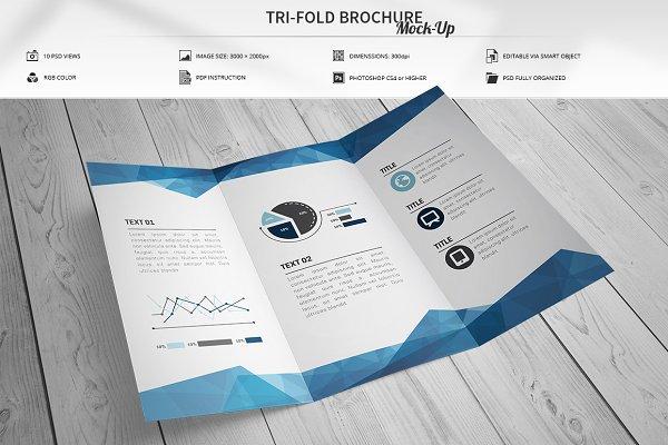 Tri-Fold Brochure Mock-Up