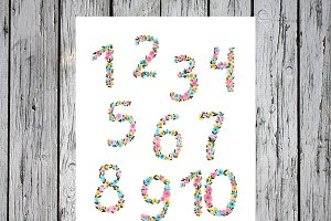 Watercolor number poster, Nursery