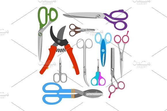 Scissors Vector Icons Set
