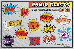 Comic Blasts Clip Art