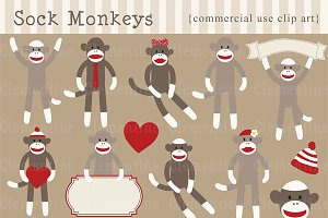 Sock Monkey clip art and vectors
