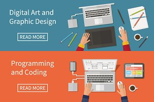 Graphic, web design, programming.