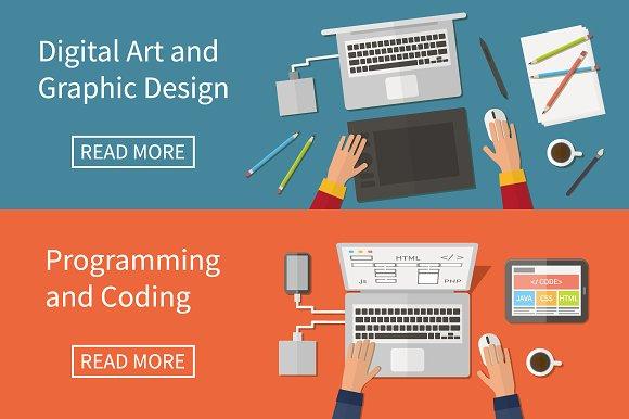 Graphic Web Design Programming Illustrations