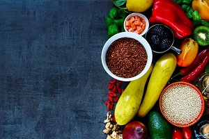 Colorful cooking ingredients