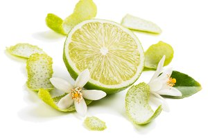 Lime fruit and zest