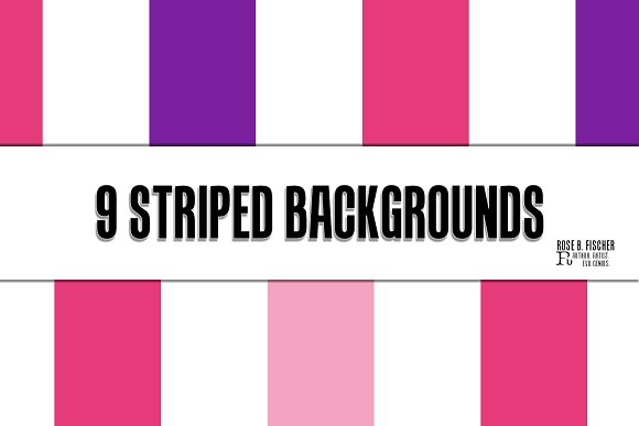 9 Striped Digital Paper Backgrounds