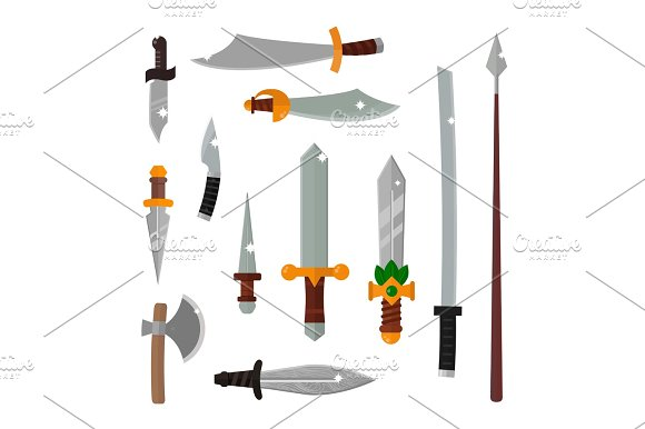 Knifes Weapon Vector Illustration