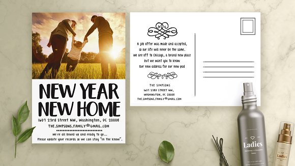 new year moving cards template cards